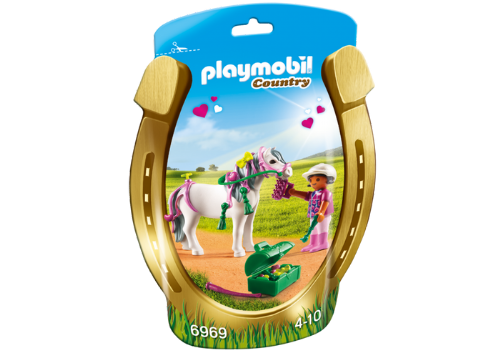 Playmobil Country 6969 Groomer with Heart Pony